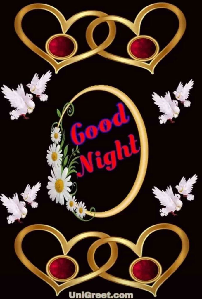Good night heart lovely photo download for free
