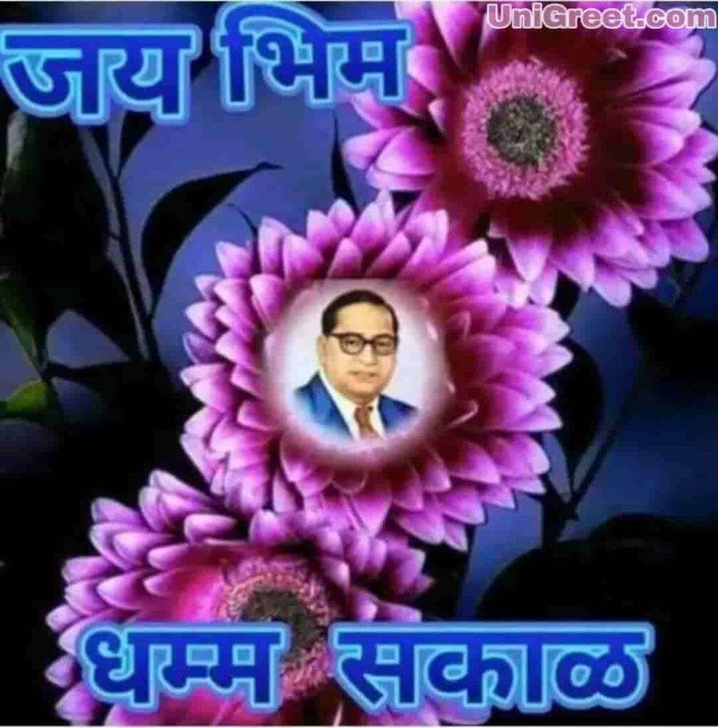 Jai bhim dhamma sakal good morning flower