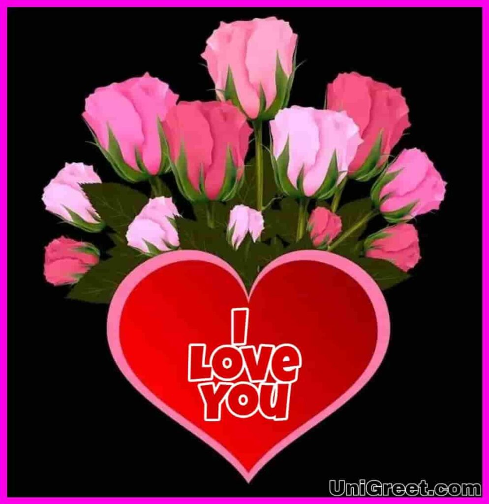 I love you flowers image download