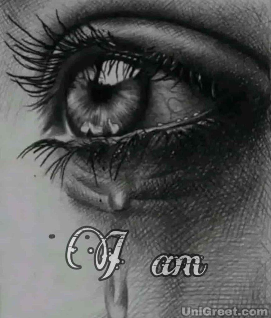 sad crying eyes dp for WhatsApp