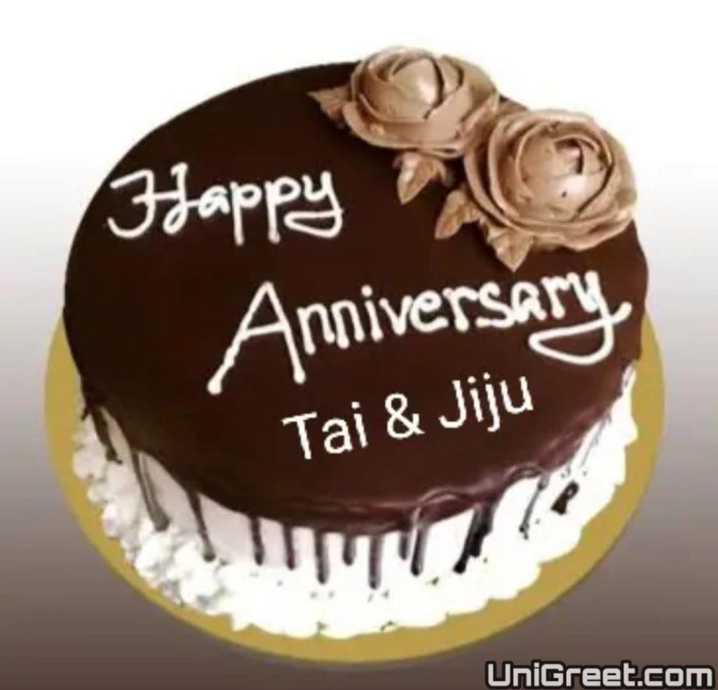 happy anniversary tai and jiju cake