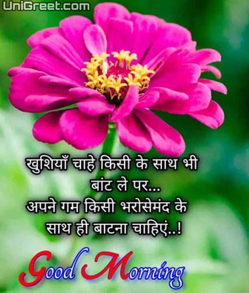 Good morning beautiful quotes in hindi with photo