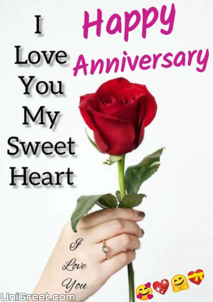 Happy anniversary wishes image for love