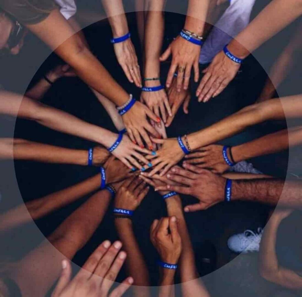 Hands with friendship bands dp pic