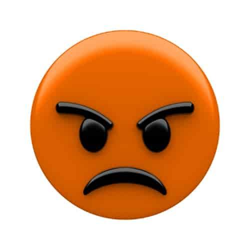 Angry emoji dp