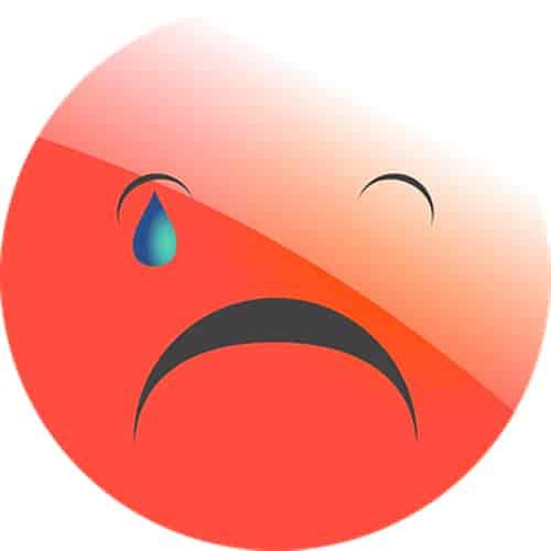 Sad face symbol