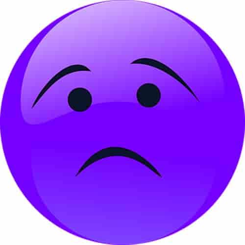 Emoji face sad dp