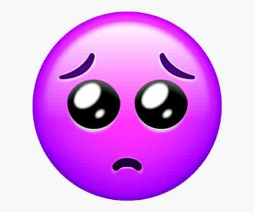 Sad emoji dp pic