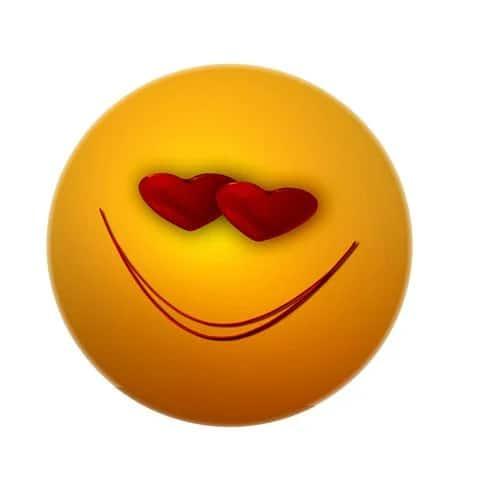 cute love emoji dp