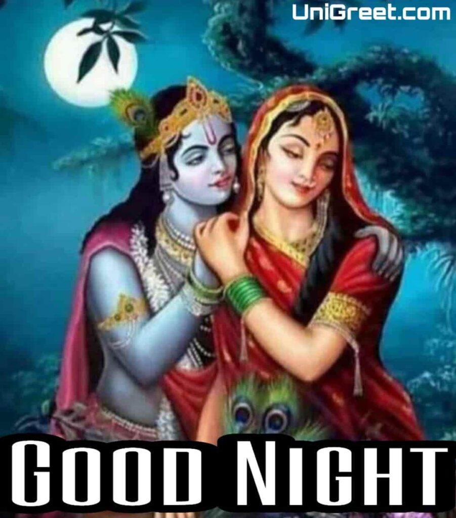 Good night radha krishna romantic image download