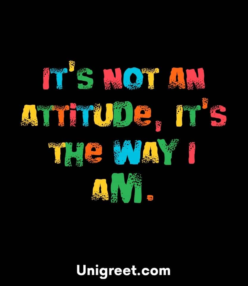 Attitude dp black background for WhatsApp