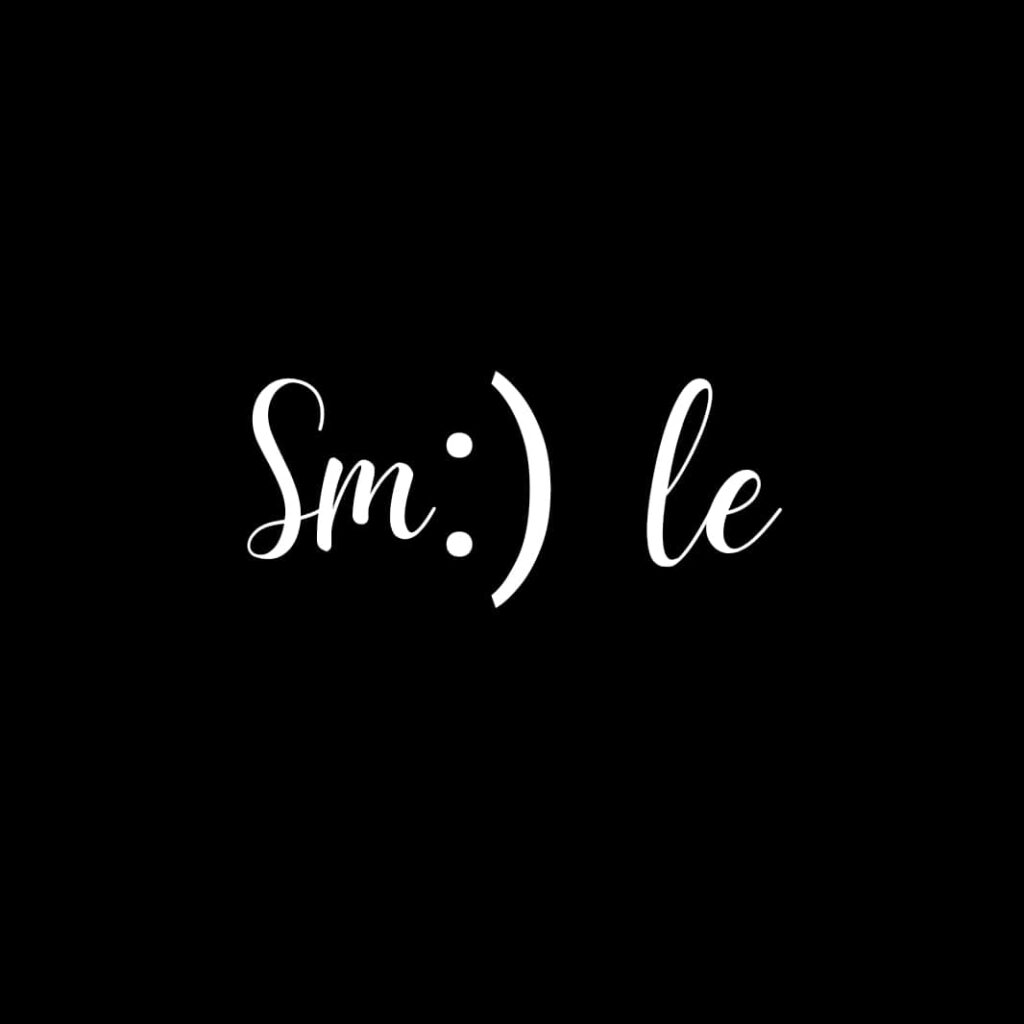 Smile wallpaper black background