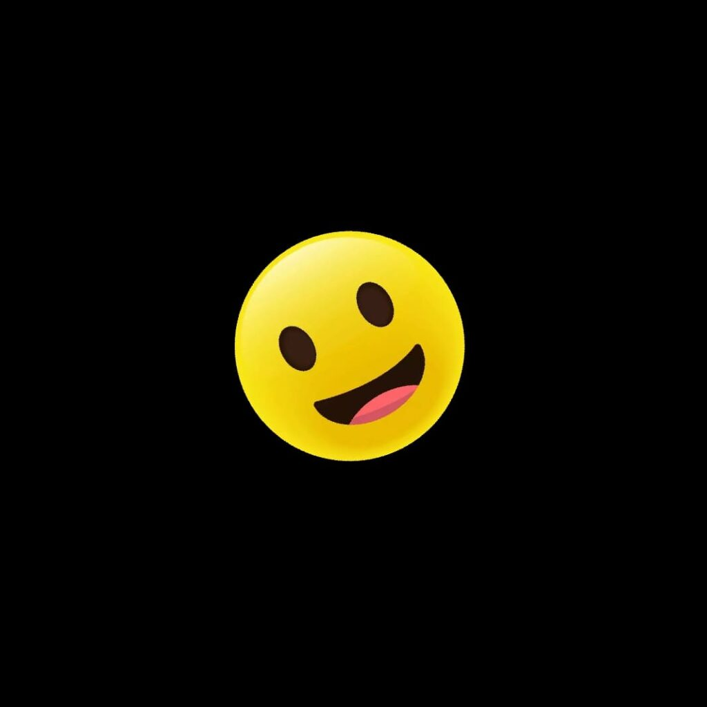 Smiley emoji black background