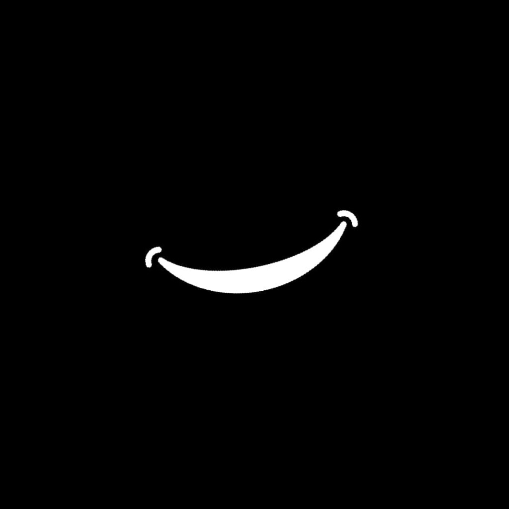 Black background smiley icon