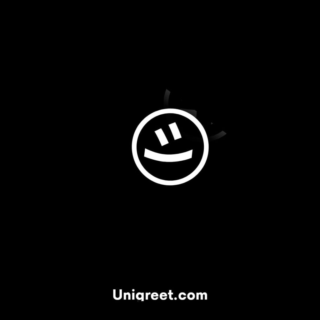 black background smiley face